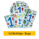 BUG - Age 1/1st/First BIRTHDAY Party Range - Tableware Boy Supplies Decorations