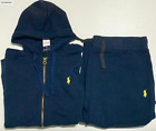 Polo Sweat Suit Ralph Lauren Top And Bottom Hoodie Brand New Complete Set Zip Up <br/> LOWEST PRICE , BEST SELECTION , FASTEST SHIPPING
