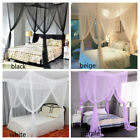 US 4 Corner Post Bed Canopy Mosquito Net Full Queen King Size Netting Bedding image