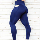 Women's High Waist Yoga Leggings with Pockets Sports Pants GYM Fitness Trousers