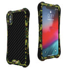 For iPhone 6 7 8 X XS Max XR Cover R-Just Metal Waterproof Shockproof Armor Case