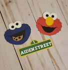 Sesame Street Elmo,Cookie Monster, and Street Sign cupcake Topper