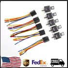 Car SPDT Automotive Relay 5 Pin 5 Wires w Harness Socket DC 12V 30 40 Amp US