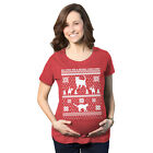 Maternity 8 Bit Cat Butt Ugly Christmas Sweater Funny Expecting Pregnancy T