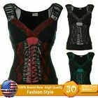 Women Gothic Vintage Tank Tops Sleeveless Steampunk Casual Sexy Sports T-shirt