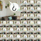 20pcs Cup Ceiling Hooks Metal Wall Mount Vinyl Coated Screw in Hanger Holder