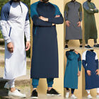 Kyпить White Men Dubai Thobe Islamic Muslim Clothing Qatar Robe Kaftan Maxi Dress US на еВаy.соm