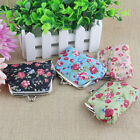 US_ New Rose Floral Print Kiss Lock Wallet Bag Keys Pouch Coin Purse Women Gift  image