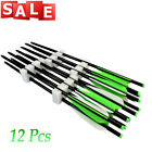 12Pcs Archery Aluminum Crossbow Arrows Target Arrow Outdoor Hunting Shooting