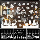 Christmas Window Stickers Elk Santa Claus Wall Decal Xmas Home Decoration