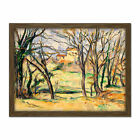 Cezanne Trees Houses Near Jas De Bouffan Painting Framed Wall Art Print 18X24 In