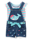 Girls NEW Outfit with Bibs and Shirt Size 4T