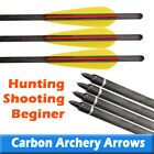 """18"""" Archery Crossbow Carbon Arrows Bolts Target Hunting Practise Broadheads New"""