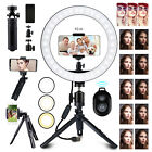 "Dimmable 10"" LED Ring Light Tripod Stand Phone Selfie Camera Live Video Makeup"