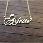 Personalized Necklace Custom Name Plate Pendant Stainless Steel Chain Jewelry image