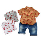 Toddler Kids Baby Boy Clothes Boys Outfits Sets Short T Shirt Tops + Pants New
