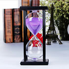 30 Minutes Wood Sand Fashion Glass Hourglass Timer Clock Home Office Decor