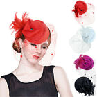 Womens Feather Wool Felt Fascinator Cocktail Great Gatsby Pillbox Hat Party A251
