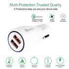 Dual 2Port USB Fast Car Charger LED Indicator Quick Charge QC 3.0 iPhone Samsung
