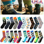 5Pair Mens Combed Cotton Socks Art Fruit Novelty Funny Casual Sock Wedding Sox