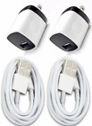 2x Wall Charger Adapter For iPhone 5 6s 7 8 Plus XS USB Data Sync Charging Cable