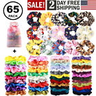 Hair Scrunchies Velvet Silk Satin Chiffon Ties Elastic Hair Scrunchy Ropes Packs