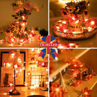 10/20/40 Led Fall Maple Leaves Fairy String Light Leaf Lamp Garland Party Decor