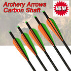 16/18/20/22Inch Archery Carbon Shaft Arrows Target Tips Crossbow Bolts Free Ship