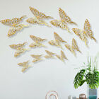 12Pcs 3D Butterfly Wall Decals Stickers Decorations 3D Hollow-Out Home Decor