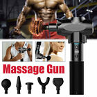 Upgraded Massage Gun Deep Muscle Vibrating Sports Recovery Massager Black US $59.99 USD on eBay