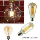 Vintage Filament LED Edison Bulb E27 Filament LED Decorative Industrial Light A+