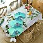 Butterfly Orchid Embroidered Waterproof Tablecloth Table Runner Wedding Party Ld