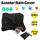 Mobility Scooter Wheelchair Waterproof Storage for Cover UV Rain Protector Black