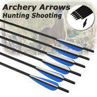 6Pcs Carbon Arrows For Archery Crossbow Bolts Hunting Shooting Free Delivery US