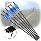6X 16-22Inch Crossbow Bolts Carbon Arrows for Crossbow Hunting Archery O.D8.8MM