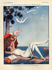 Vie Parisienne Cover Fashion Lady Beach Cupid Love Vintage Poster Repro FREE S/H