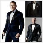 007 James Bond Dark Blue Groom Tuxedos Jacket+Pant Mens Tuxedos Boyfriend Blazer $52.99 USD on eBay