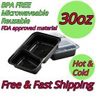 30oz Food Containers Meal Preps BPA FREE Microwavable Reusable Dish Washer Safe