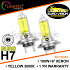 LIGHTEC H7 GOLDEN EURO YELLOW XENON HALOGEN BULBS 12V 100W UPGRADE 3000K SRI VXR