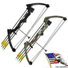 USA Black/Camo 20lbs Compound Bow Youth Competition Bow Set No Arrows Training