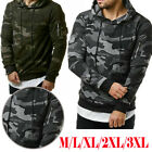 Fashion Men's Fleece Warm Hoodie Hooded Camouflage Sweatshirt Pullover Coat Tops