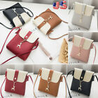 Women PU Leather Shoulder Handbag Cross-Body Bag Tote Messenger Satchel Purse US image