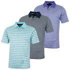 Bobby Jones Mens Lux Mercerized Cotton Stripe Golf Polo Shirt 57% OFF RRP