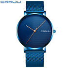 Relogio Masculino CRRJU Mens Business Dress Watches Luxury Casual Waterproof