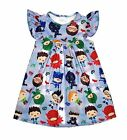 Pj Masks Inspired Milk Silk Flutter Dress