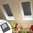 Blackout Blind Curtains Suction Cup Thermal for Velux Roof Anti-UV Window Gray