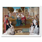 Master Of The Spes Nostra Memorial Tablet Painting Wall Art Print Framed 12x16