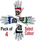 4 White Golf Gloves ALL WEATHER Glove Mens/Ladies,Right/Left Hand,Red,Blue,Green