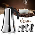 100-450ml Stainless Steel Espresso Stove Top Coffee Maker Percolator Moka Pot UK