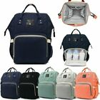 Baby Diaper Nappy Mummy Changing Bag Backpack Set Multi-Function Nappy Rucksack